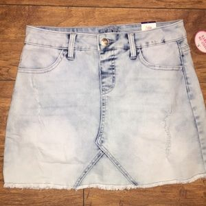 Justice blue jean skirt with built in shorts. NWT
